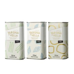 PACK MONOVARIETALES LATA. Aceite de oliva virgen extra Finca Varona La Vella