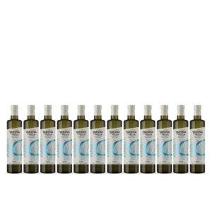 12 unidades botella de vidrio varona la vella aceite de oliva virgen extra