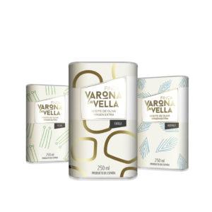 pack monovarietales 12 lata aceite de oliva virgen extra varona la vella