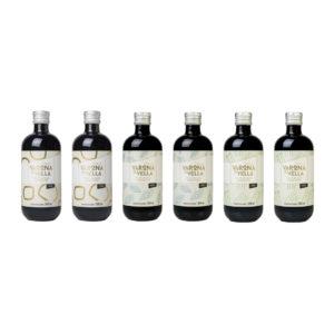 PACK MONOVARIETALES VIDRIO. Aceite de oliva virgen extra Finca Varona La Vella.