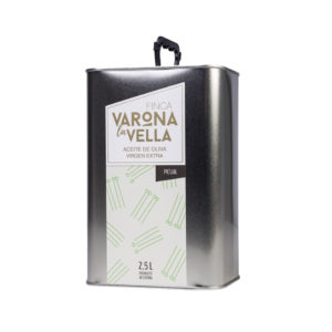 picual lata 2,5 litros aceite de oliva virgen extra varona la vella