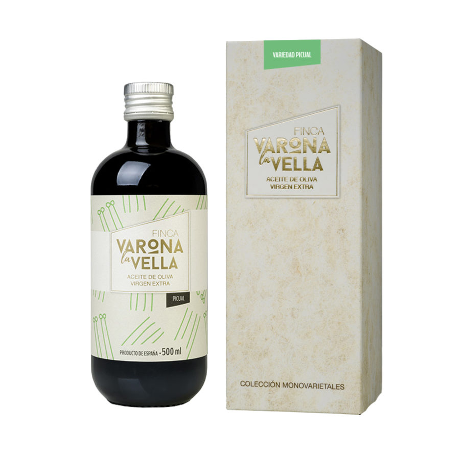 PICUAL VIDRIO. Aceite de oliva virgen extra Varona La Vella