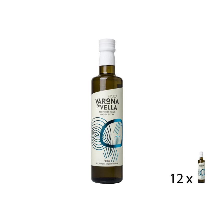 MULTIVARIETAL 'MAESTRAT' VIDRIO. Aceite de oliva virgen extra Finca Varona La Vella