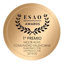 Mejor AOVE de la Comunidad Valenciana 2019-2020 por ESAO AWARDS